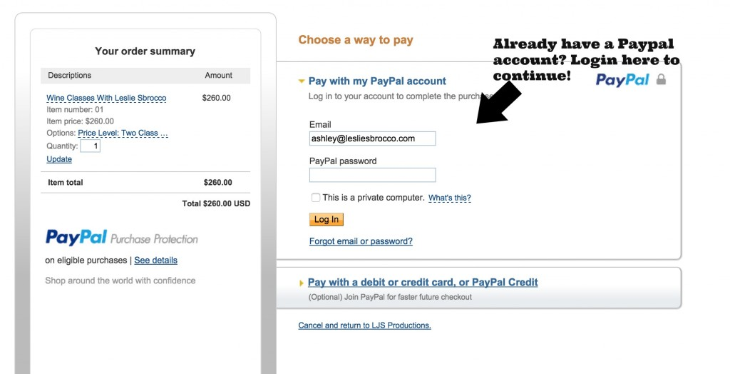Paypal With Account Login