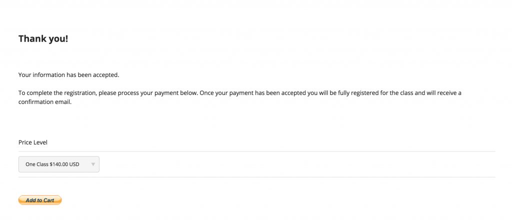 Registration Confirmation and Paypal