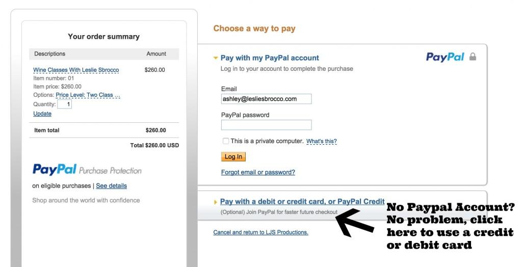 no paypal account