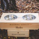 wine crate dog bowl